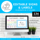 Editable Signs & Labels {Chevron}