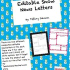Editable Snow News Letters