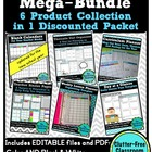 Editable TEACHER Organization BINDER 5 PRODUCT BUNDLE {Tem