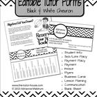 Editable Tutor Forms {Black, White Chevron}