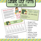 Editable Tutor Forms {Math and Books}