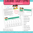 Editable Tutor Forms {Reading Buddies}