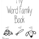 Editable Word Family House Booklet