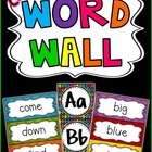Editable Word Wall - Bright & Colorful!