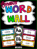 Word Wall - Bright, Colorful, & Editable!