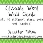 Editable Word Wall in Brights and Primary & Popcorn and St