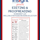 Editing Proofreading Worksheet with Spelling Strategies Passage