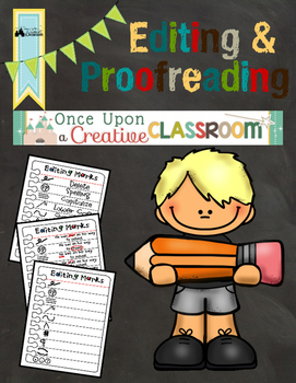 Editing and Proofreading Marks Poster and Worksheets