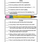 Editing and Revising Checklist for students in grades 3, 4, and 5