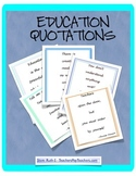 Education Quotation Posters and Student Activity