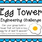 Egg Tower: Engineering Challenge Project ~ Great STEM Activity!