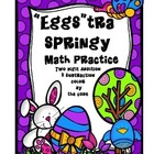 """Eggs""tra Springy Math Fact Practice (Two-Digit Addition a"