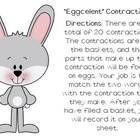 """Eggcelent"" Contractions- Literacy Center Activity"