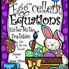 """Egg""cellent Equations ~ Math Easter Printables Color By T"