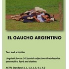 El Gaucho Argentino - 30 Spanish adjectives