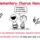Elementary Chorus Pack: Teacher's Guide, Student Contract,