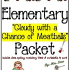"""Elementary """"Cloudy With a Chance of Meatballs"""" Packet (JAM"""