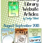 Elementary Library Website Posts August-September