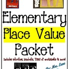Elementary Place Value Packet (SUPER JAM-PACKED!)