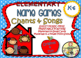 Elementary School Name Games and Songs for Classroom Commu