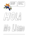 Elementary Spanish greetings and coloring page