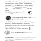 Elements and Periodic Table of Elements Note Taking Worksheet