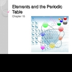 Elements and the Periodic Table Power Point Presentation