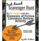 Elements of Fiction Literature Scavenger Hunt {FREEBIE}
