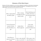 Elements of Plot Mini-Project