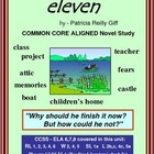 ELEVEN, by Patricia Giff:: Common Core Aligned Novel Study