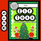 Math Games for Addition and Subtraction:  Elf Toss