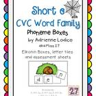 Elkonin boxes with Short e CVC word families CCSS ELA Foun