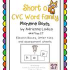 Elkonin boxes with Short o CVC word families CCSS ELA Foun