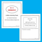 Emergency 9-1-1 Mini Activity Pack (Lesson Plan Ideas)