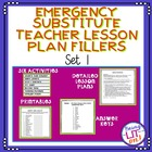 Emergency Substitute Teacher Lesson Plans Bundle