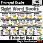 Emergent Reader Sight Word Books - PrePrimer Set 1