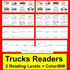Emergent Readers Mini Books-Truck Theme-2 Levels-9 Versions