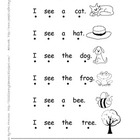 Emergent Student Readers-I See