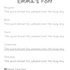 """Emma's Font""-FREE Handwriting Font for Personal & Commercial Use"
