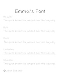 """""""Emma's Font""""-FREE Handwriting Font for Personal & Commercial Use"""