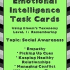 Emotional Intelligence Task Cards Using Bloom's Taxonomy:
