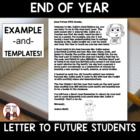 End of School Year Activity: Letter to Future Students