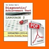 Diagnostic/Achievement Test in Language-2