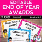 End of Year Award Certificates! Nomination Forms, Parent N
