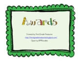 End of Year Award Certificates