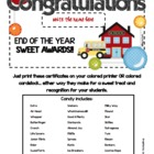 End of Year Candy Certificates