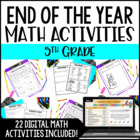 End of Year Math Activities for 5th Grade {Common Core Aligned}