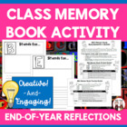 End of Year Memories Book Project Activity with Students