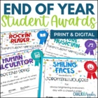 End of Year Student Awards Certificates - Turquoise Dots -