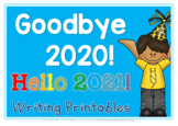 End of Year Writing Printables: Goodbye 2014 Hello 2015